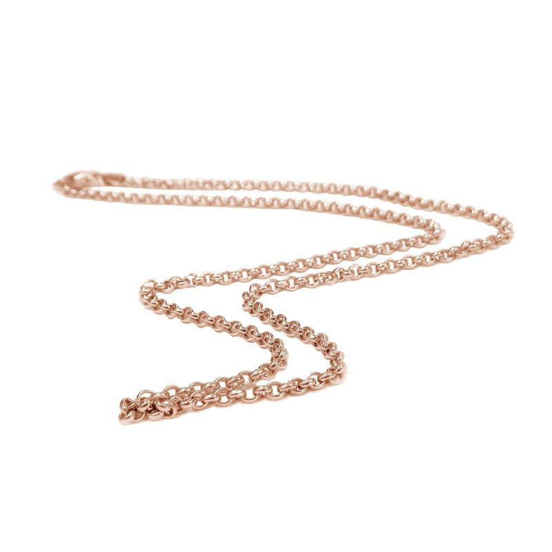Belle Etoile 18K Rose-Gold Vermeil Thin Rolo Chain