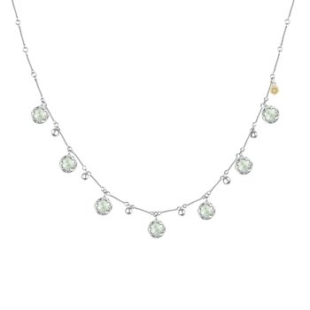 Multi-Gem Drop Necklace featuring Prasiolite