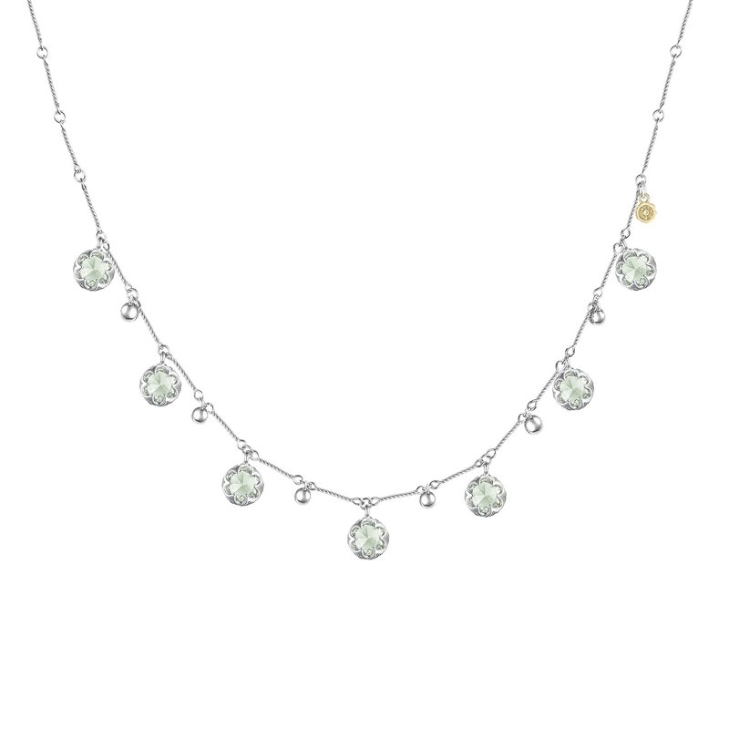 Tacori Fashion Multi-Gem Drop Necklace featuring Prasiolite