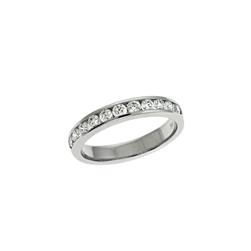 S. Kashi & Sons Bridal White Gold Channel Set Band