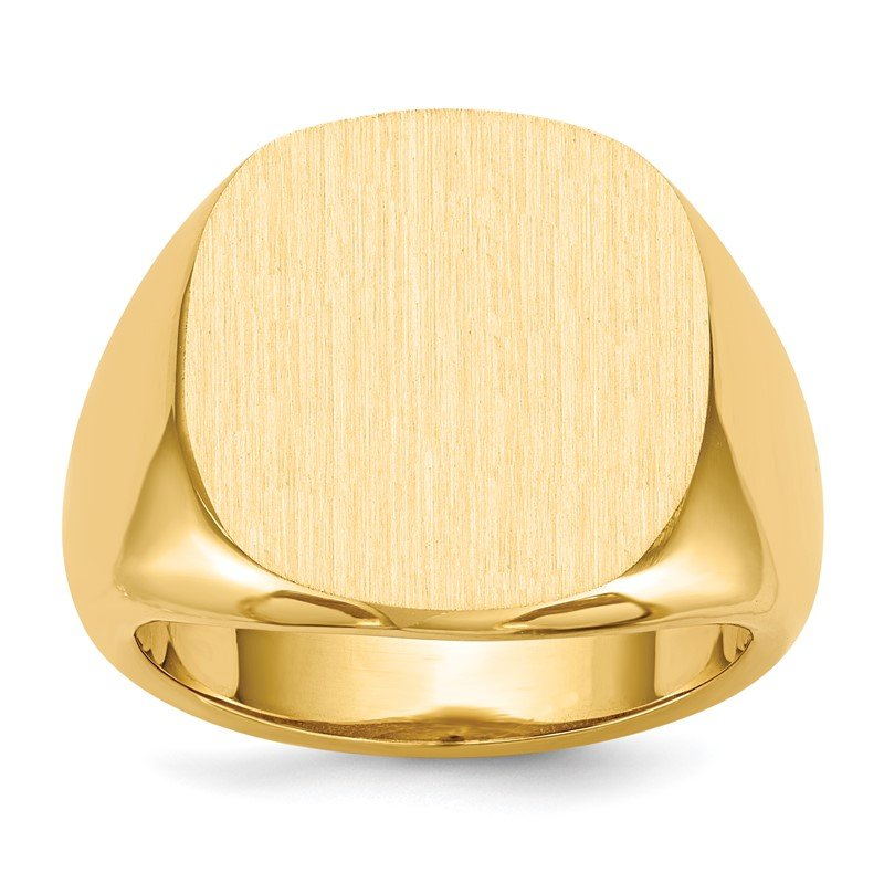 Quality Gold 14k 17.0x17.0mm Open Back Mens Signet Ring
