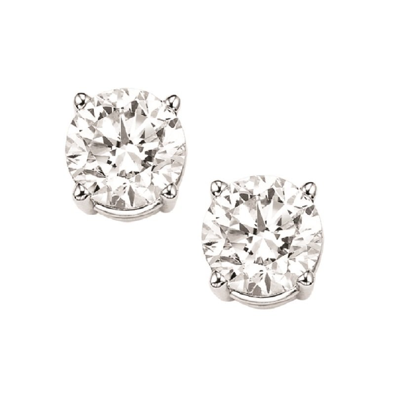 Gems One Diamond Stud Earrings in 18K White Gold (1 ct. tw.) I1/I2 - J/K