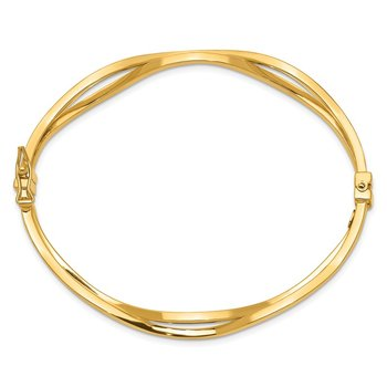 14K Yellow Gold Hinged Bangle