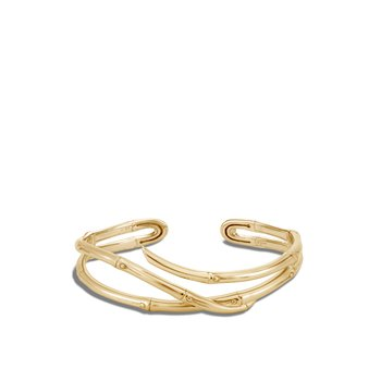 Bamboo Flex Cuff in 18K Gold