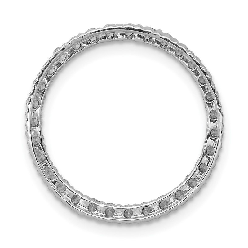 Quality Gold 14k White Gold 1/4ct. Diamond Circle Chain Slide