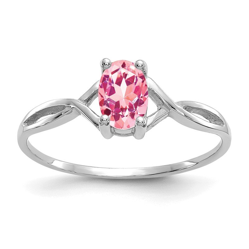 Quality Gold 14k White Gold Pink Tourmaline Birthstone Ring