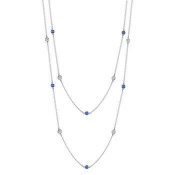 "Sapphire & Diamond ""By The Yard"" Chain"