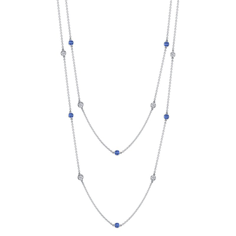 "Omi Prive Sapphire & Diamond ""By The Yard"" Chain"