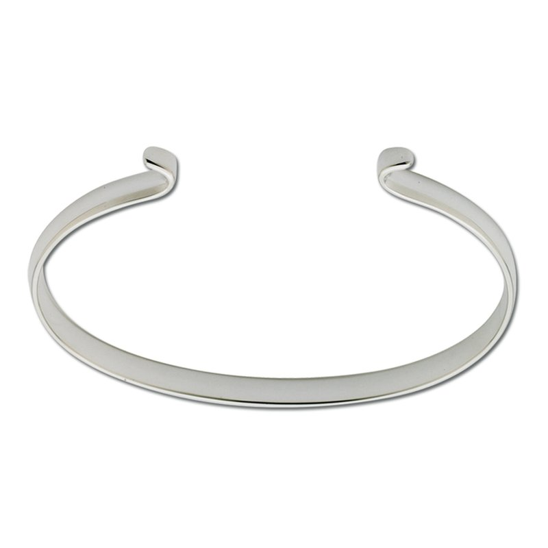 Lestage Sterling Silver Narrow Polished Bracelet