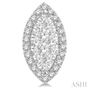 marquise shape lovebright diamond earrings