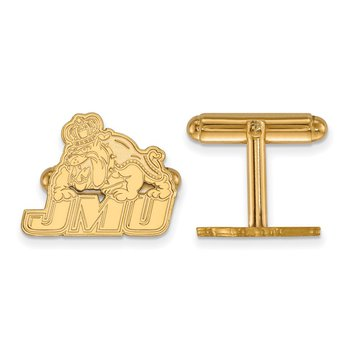 Gold-Plated Sterling Silver James Madison University NCAA Cuff Links
