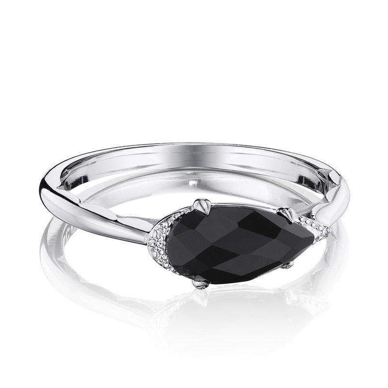 Tacori Fashion Solitaire Pear-Shaped Ring with Black Onyx