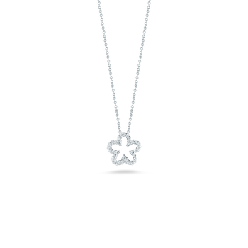 18KT GOLD FLOWER PENDANT WITH DIAMONDS