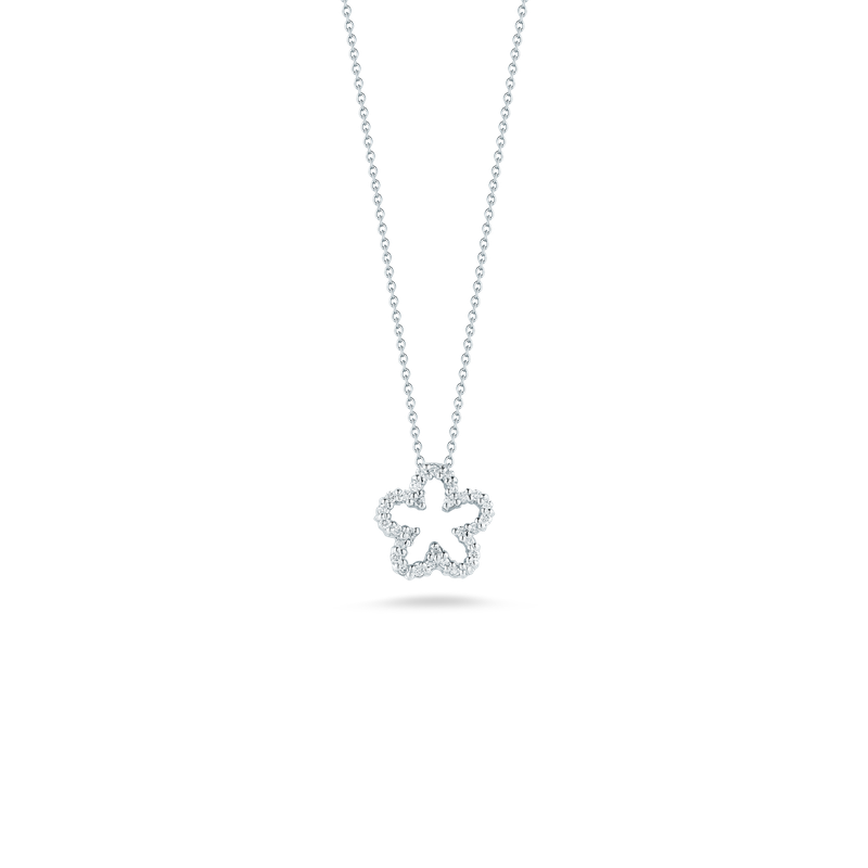 Roberto Coin 18Kt Gold Flower Pendant With Diamonds