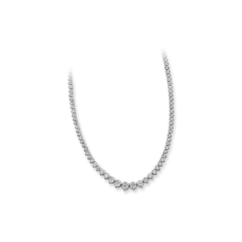S. Kashi  & Sons Platinum Diamond Necklace