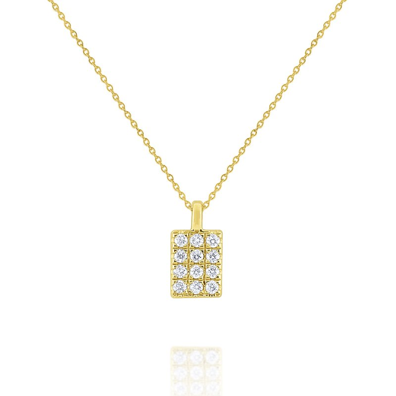 KC Designs Simple Geometric Gold and Diamond Necklace