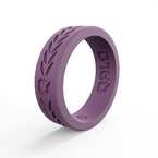 Qalo Women's Laurel Lilac Silicone Ring
