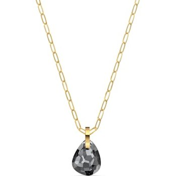 T Bar Pendant, Gray, Gold-tone plated
