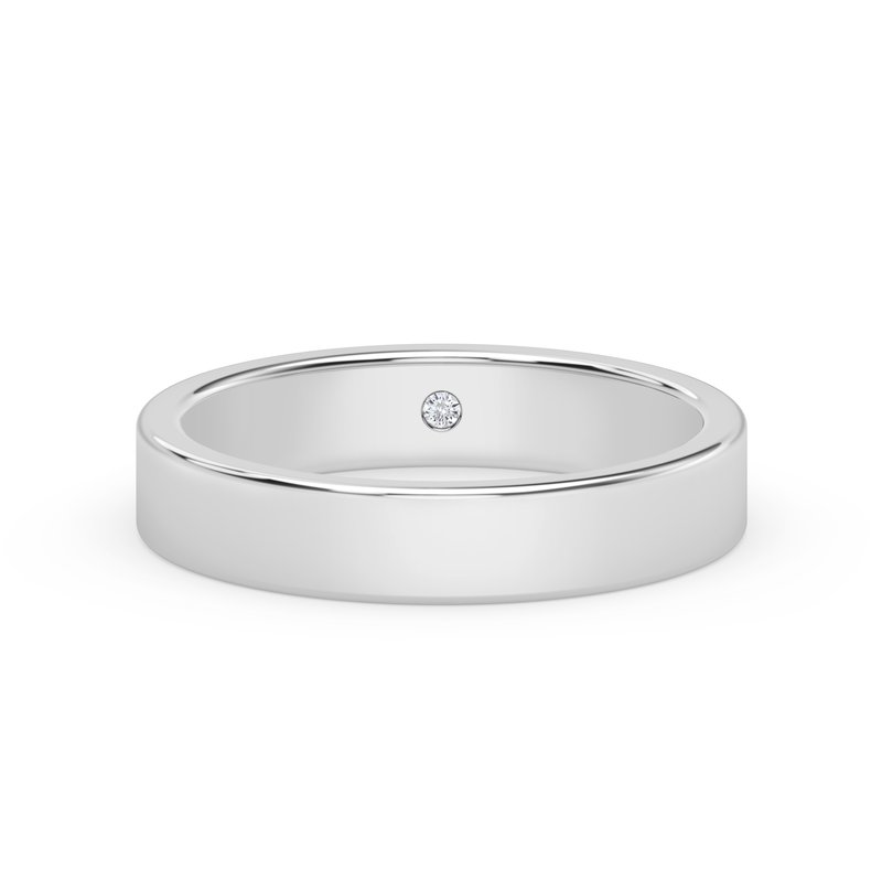 Forevermark Engagement and Commitment 4mm Squared Band