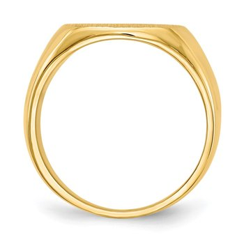 14k 15.5x14.0mm Closed Back Men's Signet Ring