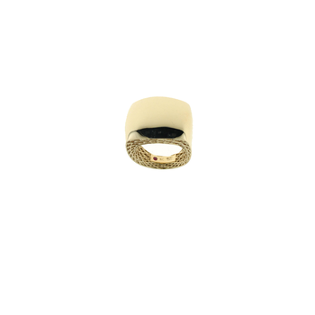 18Kt Gold Square Ring