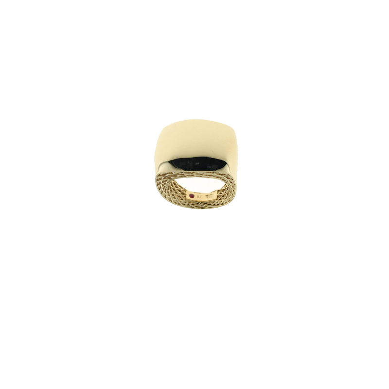 Roberto Coin 18KT GOLD SQUARE RING