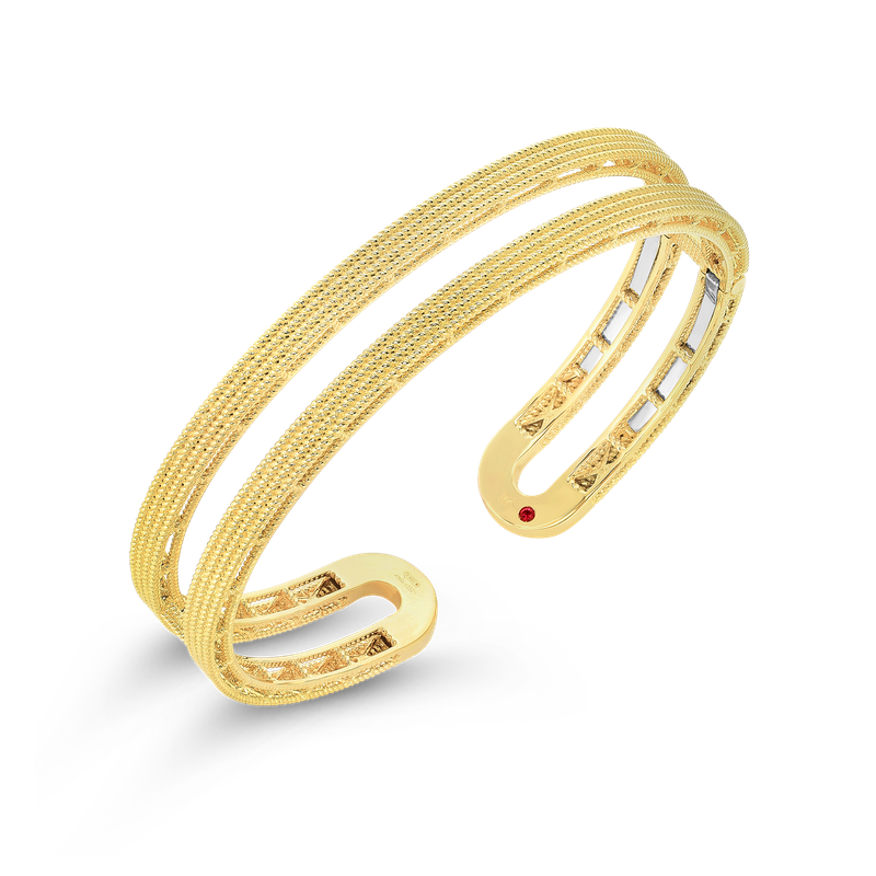Roberto Coin 18KT GOLD DOUBLE SYMPHONY BAROCCO CUFF