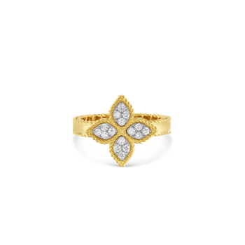 18KT GOLD MEDIUM RING WITH DIAMONDS