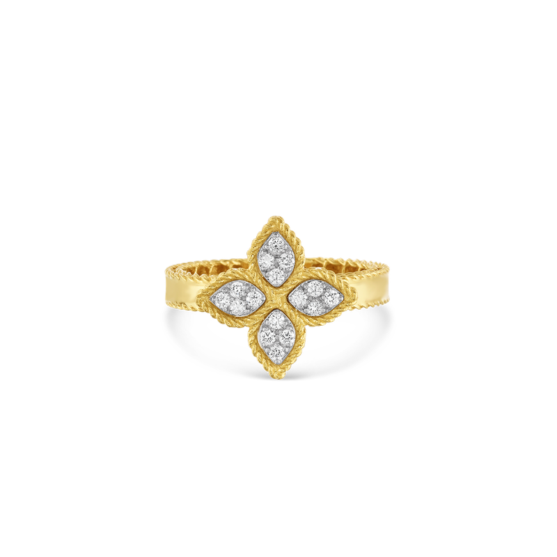 Roberto Coin 18Kt Gold Medium Ring With Diamonds