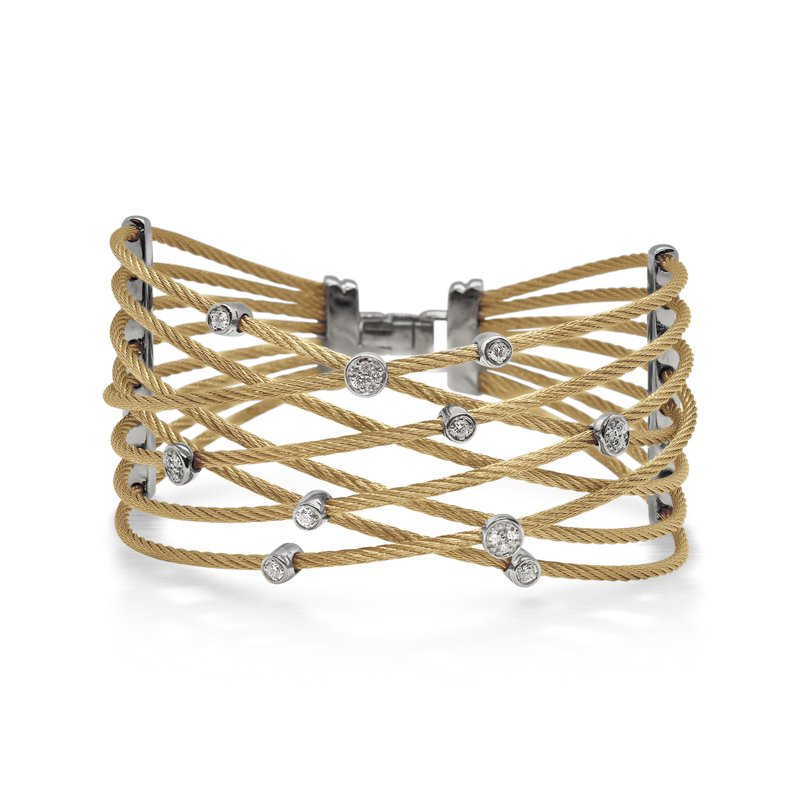 ALOR Yellow Cable Constellation Bracelet with 18kt White Gold & Diamonds