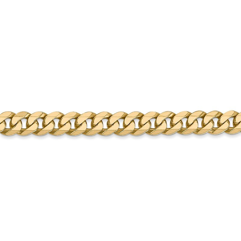 Quality Gold 14k 5.75mm Flat Beveled Curb Chain