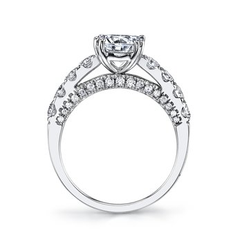 MARS 26253 Diamond Engagement Ring  1.15 Ctw.