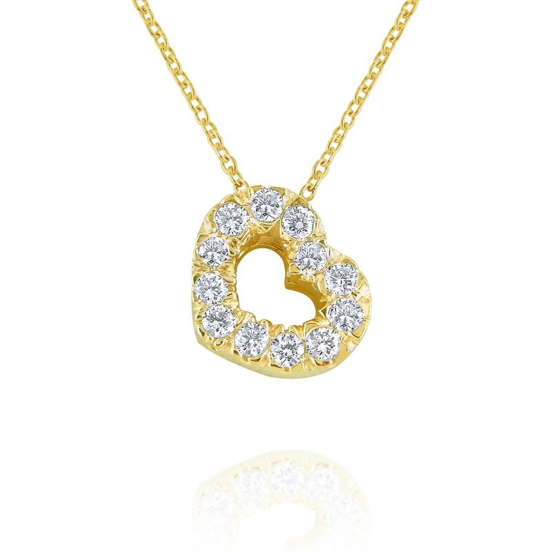MAZZARESE Fashion 14k Gold and Diamond Heart Necklace