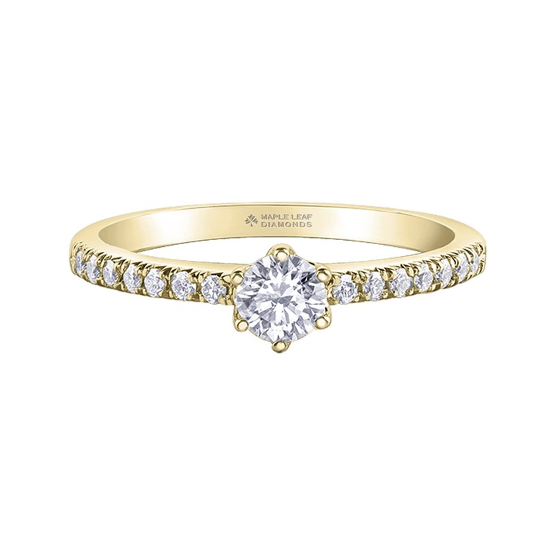 Timeless Beauty Maple Leaf Diamonds™ Eternal Flames™ Ladies Engagement Ring