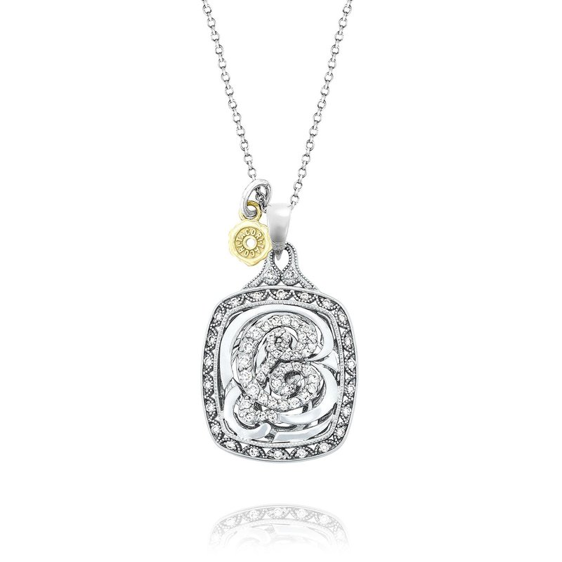 Tacori Fashion Monogram Initial Pendant in Silver