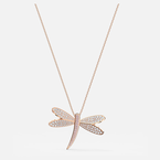 Swarovski Eternal Flower Necklace, White, Rose-gold tone plated