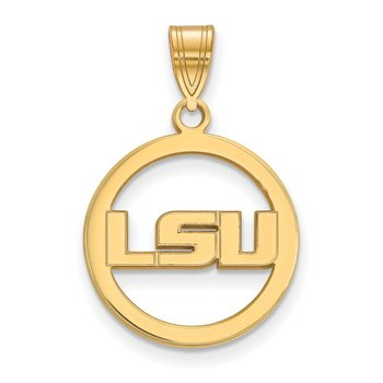 Gold-Plated Sterling Silver Louisiana State University NCAA Pendant