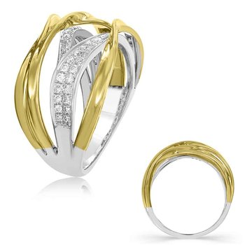 Yellow & White Gold  Diamond Fashion