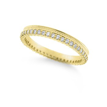 Diamond Beaded Ring in 14k Yellow Gold with 46 Diamonds weighing .36ct tw