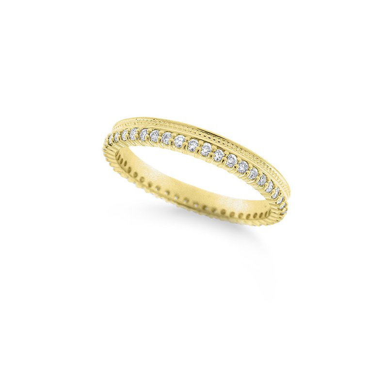 KC Designs Diamond Beaded Ring in 14k Yellow Gold with 46 Diamonds weighing .36ct tw