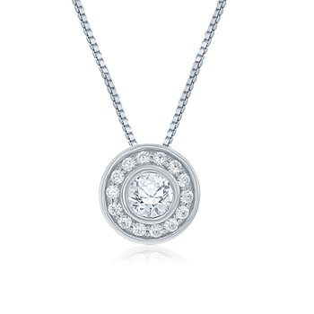 The Angelina Halo Necklace