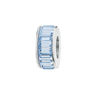 316L stainless steel and Swarovski® Elements light sapphire crystals