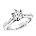 Valina Bridals Solitaire mounting .01 tw., 1 ct. round center.