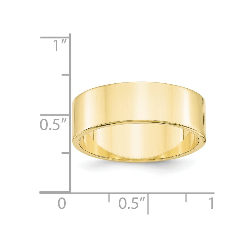 Quality Gold 10KY 7mm LTW Flat Band Size 10
