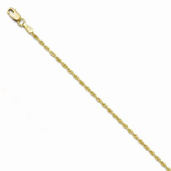 Leslie's 10K 2.00mm Diamond Cut Rope Chain