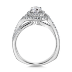 Valina Halo Engagement Ring Mounting in 14K White Gold (.50 ct. tw.)