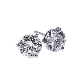 Diamond Stud Earrings in 18K White Gold (1/2 ct. tw.) SI2 - G/H