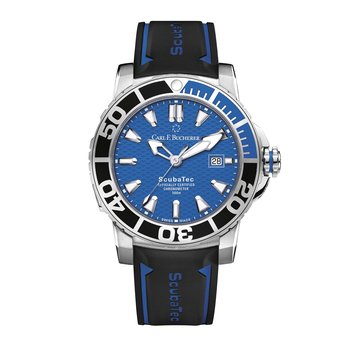 Patravi ScubaTec 45mm Stainless Blue Dial Mens Watch