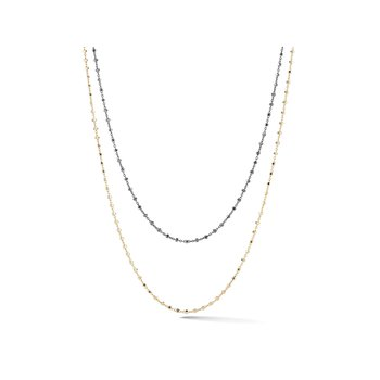 White, Yellow, & Black Gold Chain Necklace