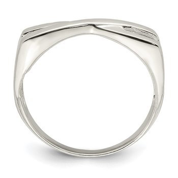 Sterling Silver Polished Criss Cross Ring
